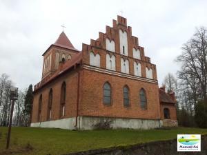 kościół, kuty, wieś, parafia, zima