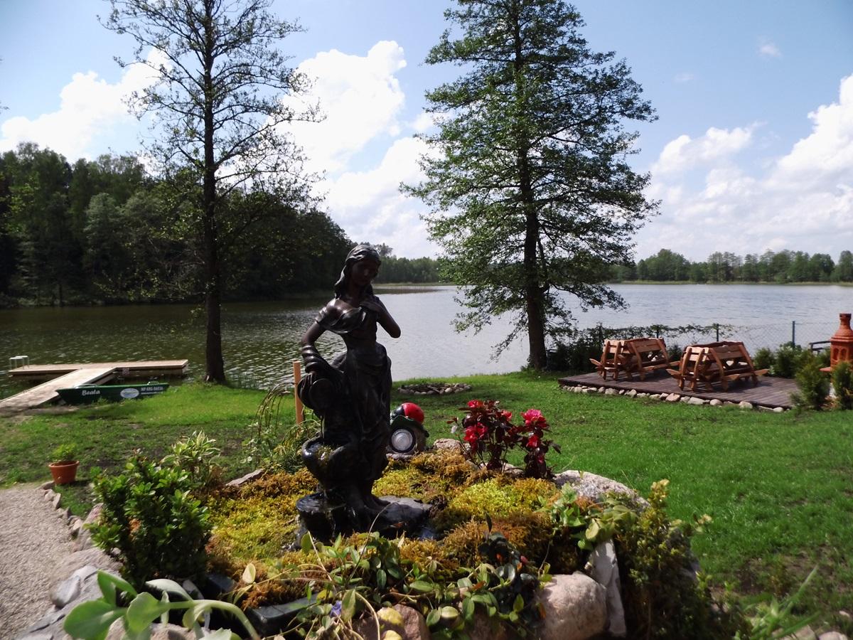 mazurski_raj, fontanna, grill, nadbrzeże, pomost, łoź