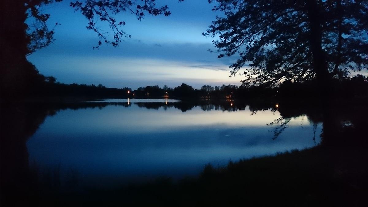 jezioro, czarna_kuta, widok, noc, lato