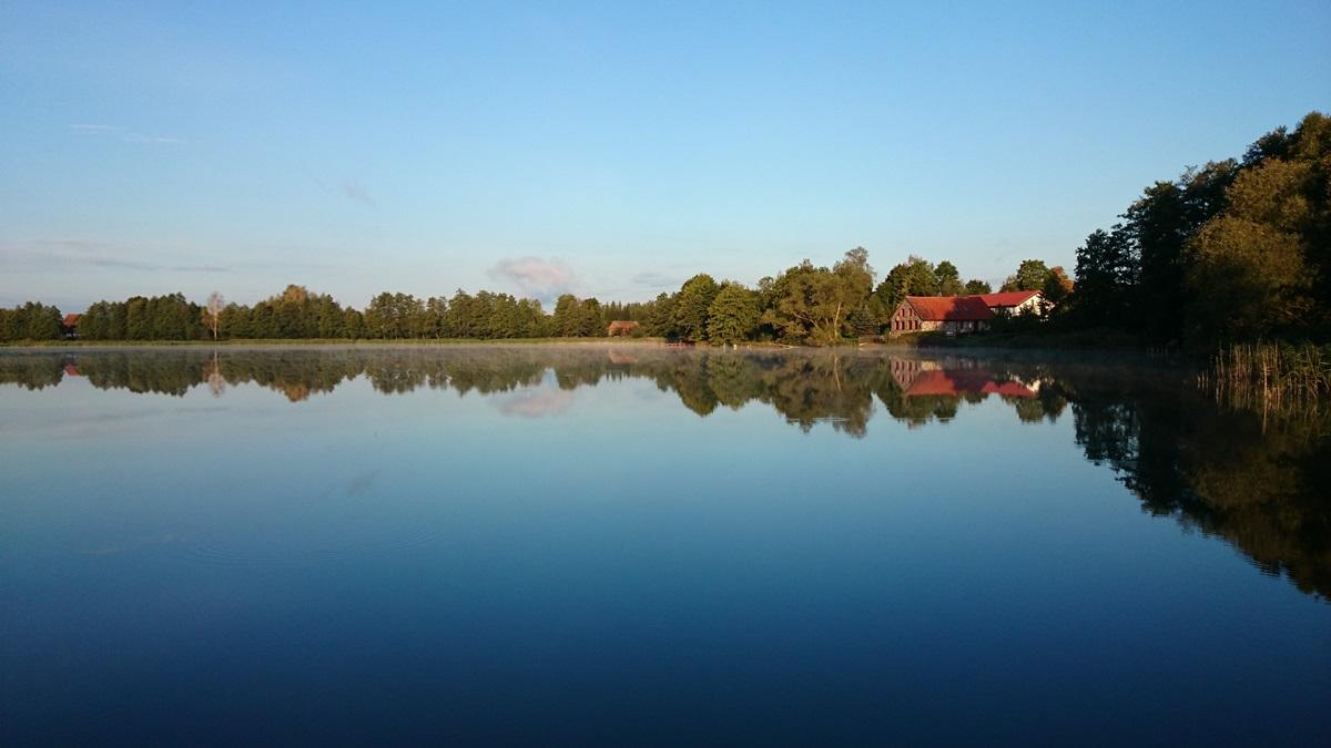 jezioro, czarna_kuta, widok, lato, domy