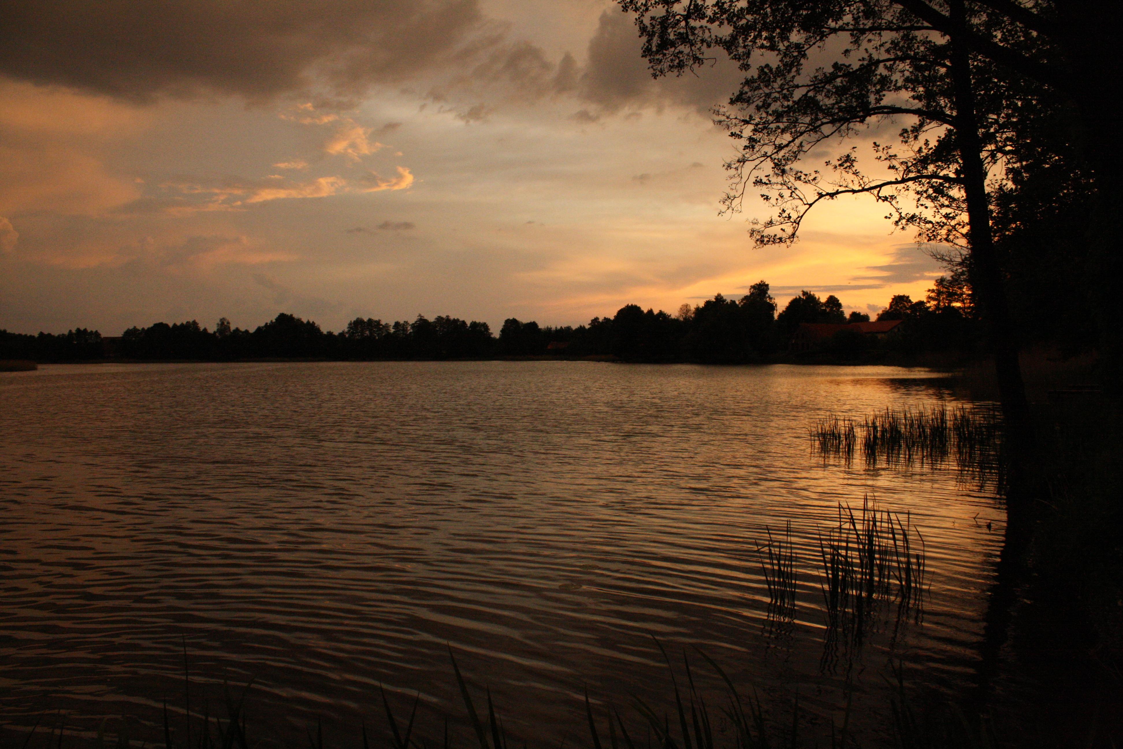 jezioro, czarna_kuta, zachód-słońca, widok