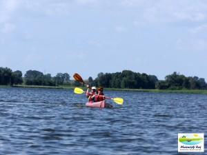 Kajakiem po jeziorze Krutyń