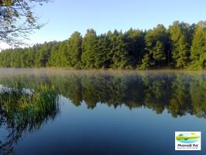 zapraszamy na piękne widoki; widok na przeciwległy brzeg jeziora