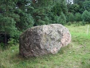 głaz, kamień, odcisk, ręka, czart, diabeł