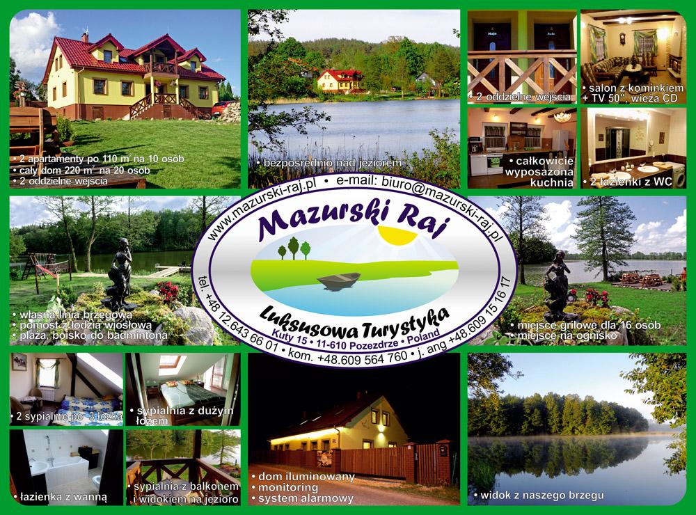 Mazurski Raj - Luksusowa Turystyka w Kutach, widokówka