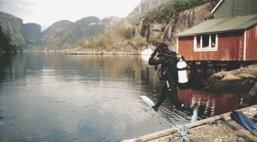 Norwegia w fiordzie