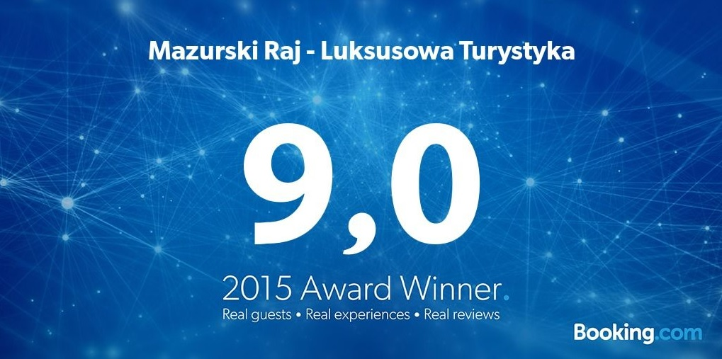 Nagroda Guest Review Award 2015 od Booking com