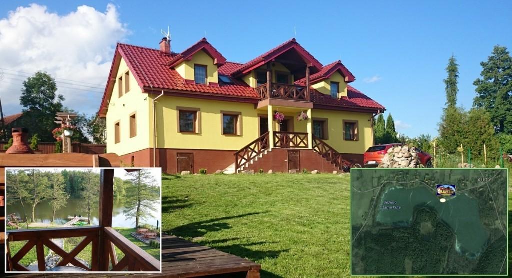 Mazurski Raj to posesja położona bezpośrednio nad jeziorem Czarna Kuta w Kutach na Mazurach